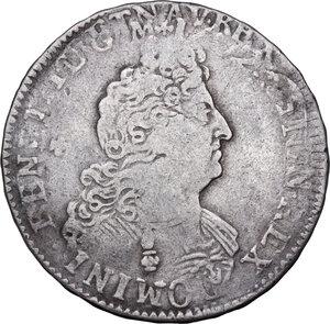 obverse: France. Louis XIV (1643-1715). 1/2 Écu aux huit L, date and mint illegible