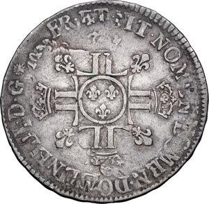 reverse: France. Louis XIV (1643-1715). 1/2 Écu aux huit L, date and mint illegible