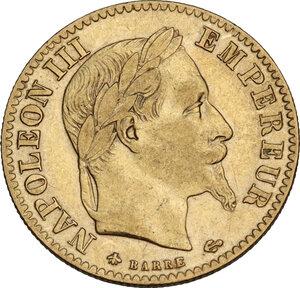 obverse: France. Napoleon III (1852-1870).10 Francs 1866 A, Paris mint