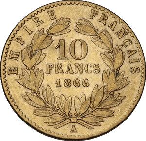 reverse: France. Napoleon III (1852-1870).10 Francs 1866 A, Paris mint