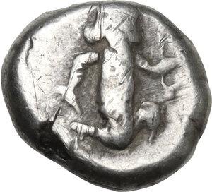 obverse: Persia, Achaemenid Empire. Time of Xerxes II to Artaxerxes II, c. 420-375 BC. AR Quarter Siglos