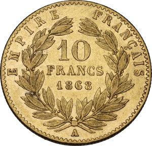 reverse: France. Napoleon III (1852-1870).10 Francs 1868 A, Paris mint