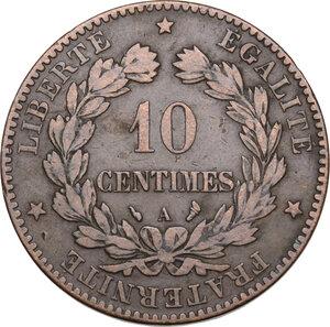 reverse: France. Third Republic (1871-1940).10 centimes 1897 A, Paris mint, torch symbol