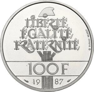 reverse: France. Fifth Republic (1958-).100 Francs 1987 La Fayette