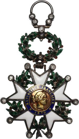 obverse: Francia . Légion d honneur de la Troisième République. Knight cross of the Order of the Legion of Honour