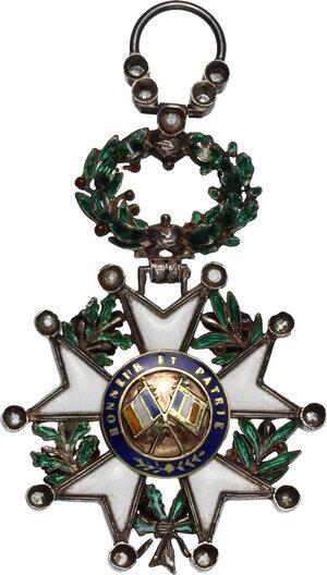reverse: Francia . Légion d honneur de la Troisième République. Knight cross of the Order of the Legion of Honour