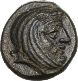 obverse: Persia, Achaemenid Empire. Spithridates, Satrap of Lydia and Ionia (334 BC).AE 11mm