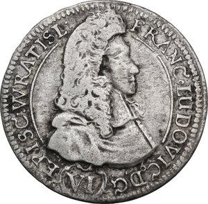 obverse: Germany. Franz Ludwig von Pfalz-Neuburg (1683-1732). 6 Kreuzer 1693, Breslau mint
