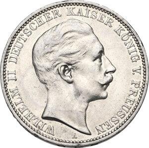 obverse: Germany, Preussen. Wilhelm II (1891-1918).AR 3 Mark 1910 A, Berlin mint