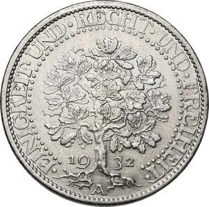 reverse: Germany. Weimar Republic (1918-1933). 5 Reichsmark 1932 A, Berlin mint