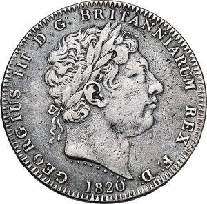 obverse: Great Britain. George III (1760-1820). Crown 1820