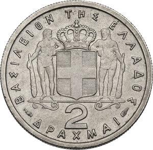 reverse: Greece. Paul I (1947-1964).2 Drachmai 1957