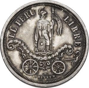 obverse: Peru . Republic. Municipalidad de Callao. Commemorative medal 1863 for Declaration of Independence