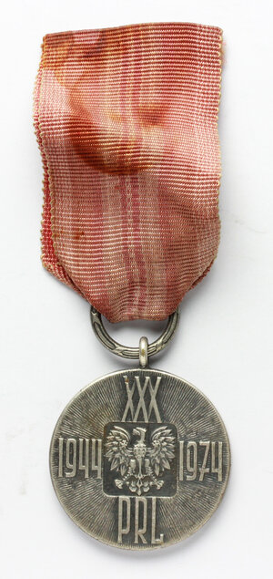 obverse: Poland. Medal with original ribbon, XXX anniversary of the Polish People s Republic: 1944-1974