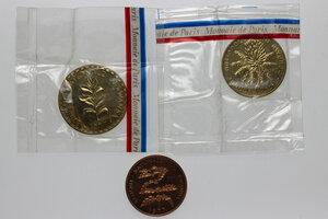 obverse: Rwanda. Republic. Lot of three (3) patterns: 50 francs, 20 francs, 5 francs 1977 ESSAI