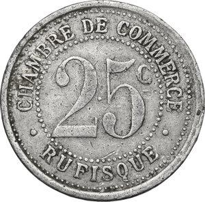 reverse: Senegal. Chambre de Commerce.25 Centimes 1920, Rufisque