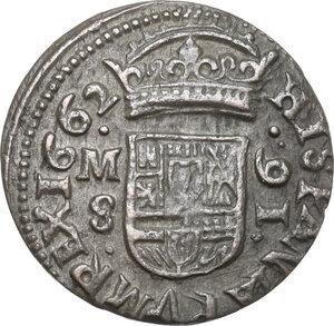 obverse: Spain. Felipe IV (1621-1640). 16 maravides 1662 M, Madrid mint