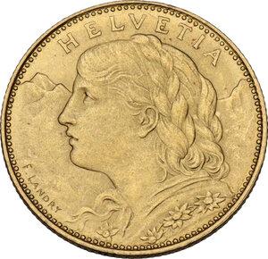 obverse: Switzerland. Confederation (1848- ). 10 Francs 1922