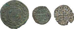obverse: Zecche Italiane. Interessante piccolo lotto composto da due (2) monete di Costanzo Sforza per Pesaro e Ladislao di Durazzo per Ascoli e da una tessera mercantile fiorentina