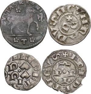 reverse: Zecche Italiane. Lotto di quattro (4) monete per le zecche di Asti, Cremona, L Aquila e Pavia