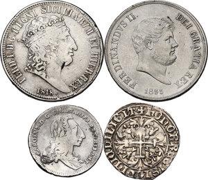 obverse: Zecche Italiane. Lotto di quattro (4) monete in argento delle zecche di Napoli e Palermo