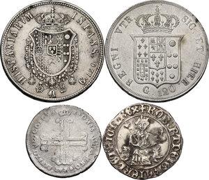 reverse: Zecche Italiane. Lotto di quattro (4) monete in argento delle zecche di Napoli e Palermo