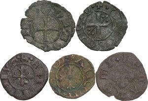 obverse: Zecche Italiane. Lotto di cinque (5) monete di ambito marchigiano. Nell insieme tre monete di Ascoli, una per Recanati e una per Ancona