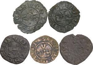 reverse: Zecche Italiane. Lotto di cinque (5) monete di ambito marchigiano. Nell insieme tre monete di Ascoli, una per Recanati e una per Ancona