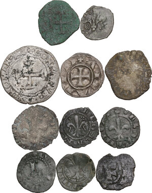 obverse: Zecche Italiane. Lotto di undici (11) monete da classificare. Interessanti tipologie per la zecca di Firenze