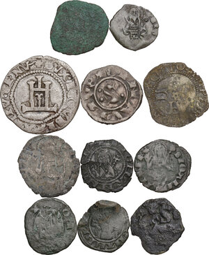 reverse: Zecche Italiane. Lotto di undici (11) monete da classificare. Interessanti tipologie per la zecca di Firenze