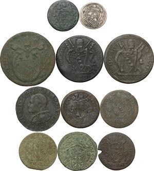 obverse: Zecche Italiane. Lotto di undici (11) monete di ambito papale
