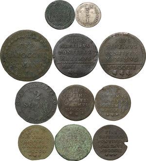 reverse: Zecche Italiane. Lotto di undici (11) monete di ambito papale