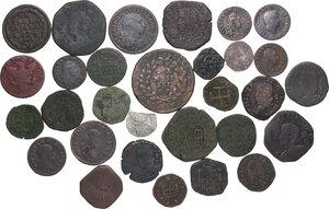 obverse: Zecche Italiane. Lotto di trenta (30) monete da classificare, la maggioranza appartengono alla zecca di Napoli