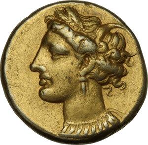 obverse: Zeugitania, Carthage. EL Stater, 310-290 BC