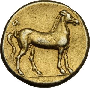 reverse: Zeugitania, Carthage. EL Stater, 310-290 BC