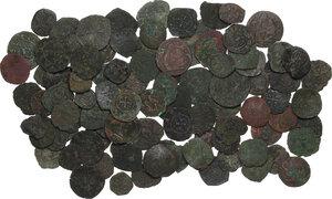obverse: Zecche Italiane. Lotto di circa cento (100) monete medievali da classificare
