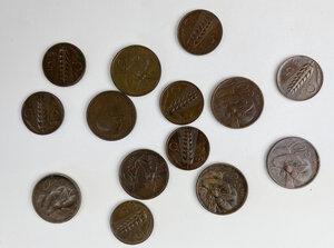 obverse: Casa Savoia. Vittorio Emanuele III (1900-1943). Lotto di quattordici (14) monete: sette 7 coppie di monete 10 e 5 centesimi 1931, 1932, 1933, 1934, 1935, 1936, 1937