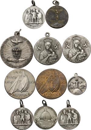 reverse: Medaglie Devozionali. Lotto di undici (11) medaglie di ambito religioso