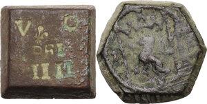 obverse: Pesi Monetali. Lotto di due pesi monetari, uno del Granducato di Toscana