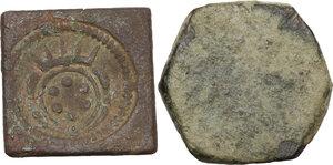 reverse: Pesi Monetali. Lotto di due pesi monetari, uno del Granducato di Toscana