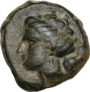 obverse: Zeugitania, Carthage. AE 15mm. c. 201-175 BC