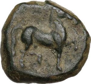 reverse: Zeugitania, Carthage. AE 15mm. c. 201-175 BC