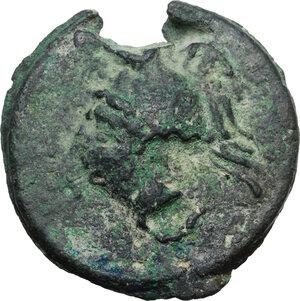 obverse: Dioscuri/ Mercury series.AE Cast Semis, c. 280-276 BC