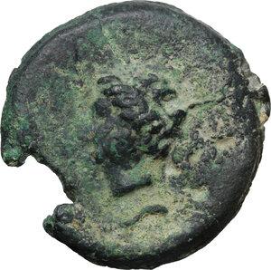 reverse: Dioscuri/ Mercury series.AE Cast Semis, c. 280-276 BC