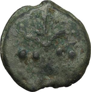 obverse: Dioscuri/Mercury series.AE Cast Triens, c. 275-270 BC