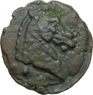 obverse: Apollo/Apollo series. AE Cast Triens, c. 275-270 BC