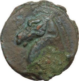 reverse: Apollo/Apollo series. AE Cast Triens, c. 275-270 BC