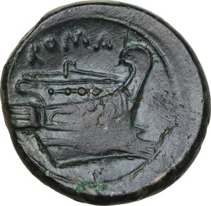 reverse: Semilibral series.AE Semuncia, c. 217-215 BC