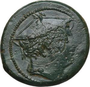 obverse: Semilibral series.AE Semuncia, c. 217-215 BC