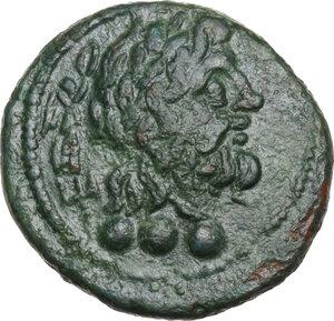 obverse: Southern Apulia, Brundisium. AE Quadrans, Semuncial standard, 2nd century BC